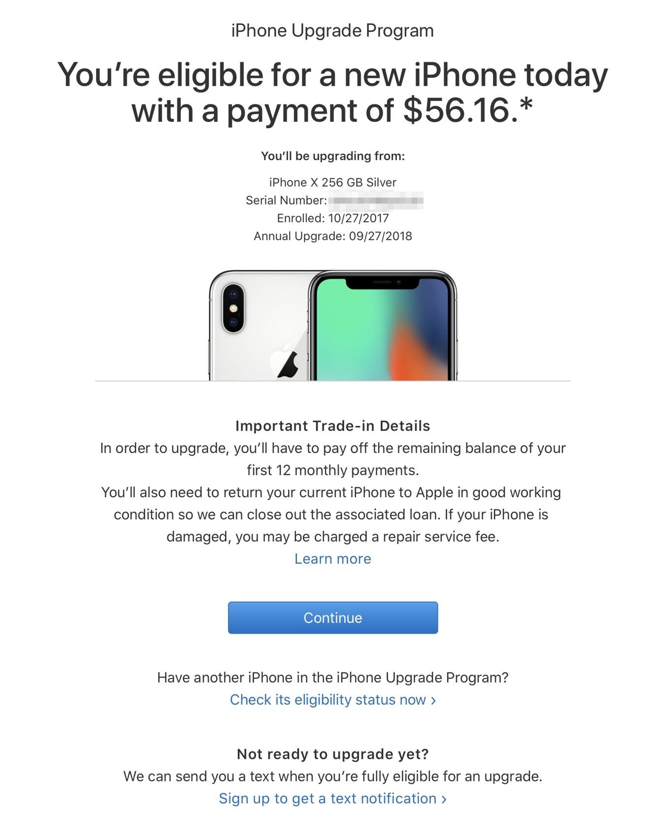iPhone upgrade image