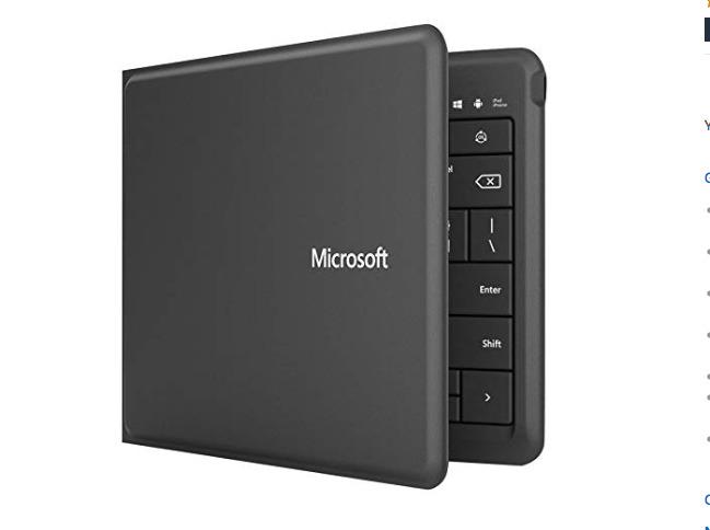 Microsoft Universal Foldable Keyboard, closed