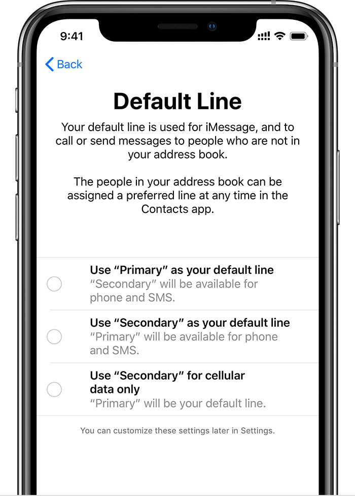 iOS 12 Dual-SIM lines