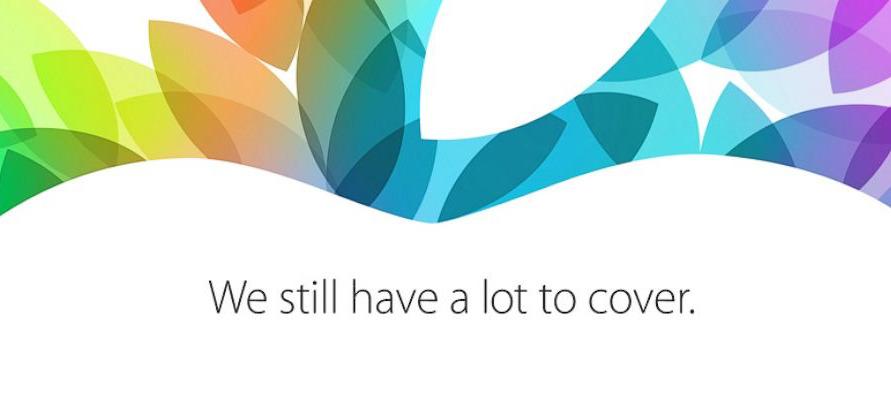 Detail from Apple's 2013 October invitation