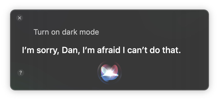 Siri Dark Mode