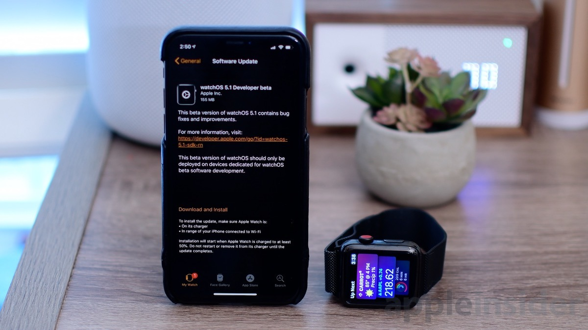 What's new in watchOS 5.1 beta 1