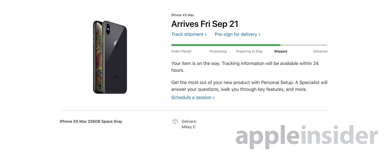 Apple Store order