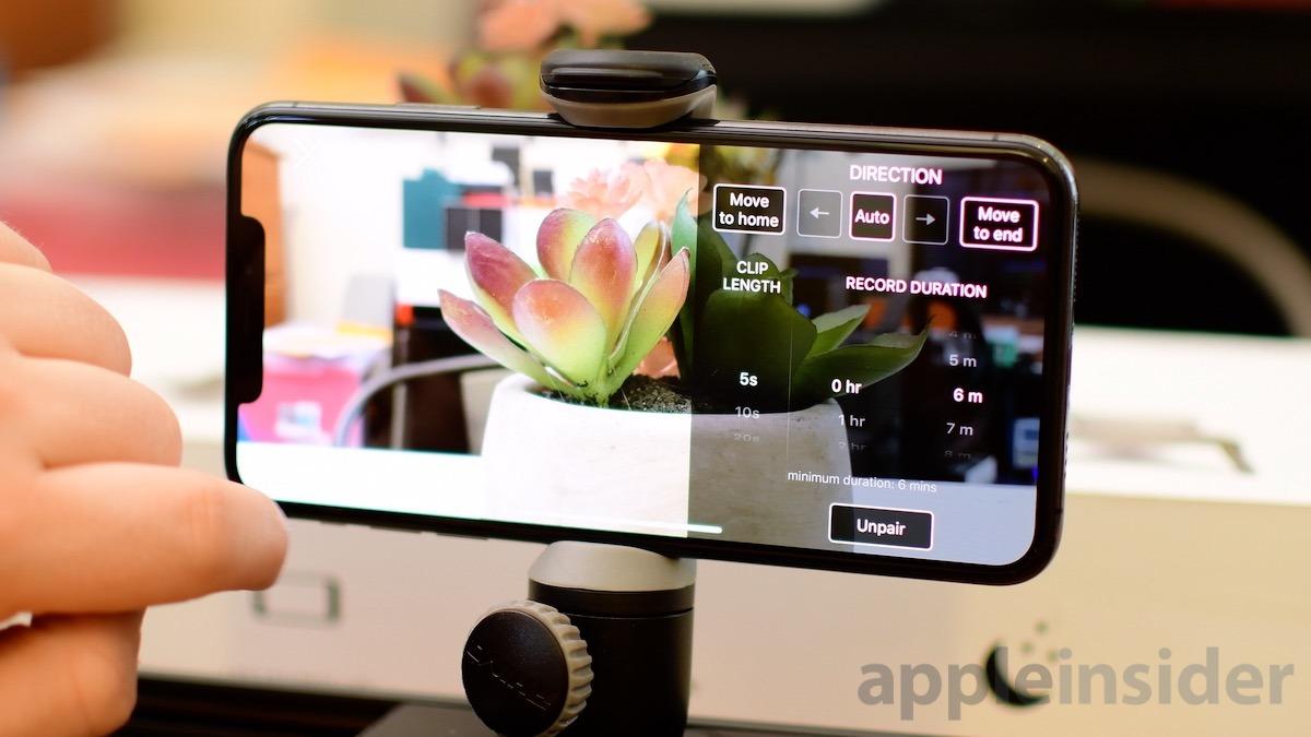 ROV Slider settings on iPhone