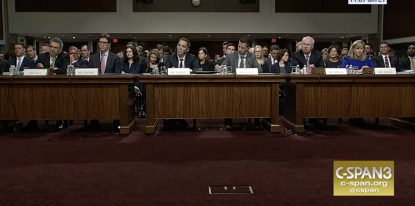 Those testifying before the committee