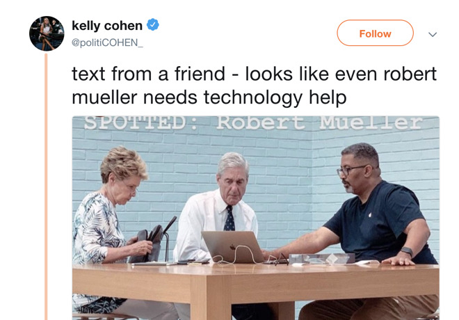 Kelly Cohen's Robert Mueller tweet