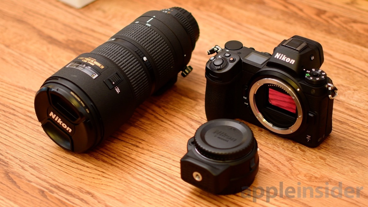 Nikon Z7 Mirrorless FTZ adapter