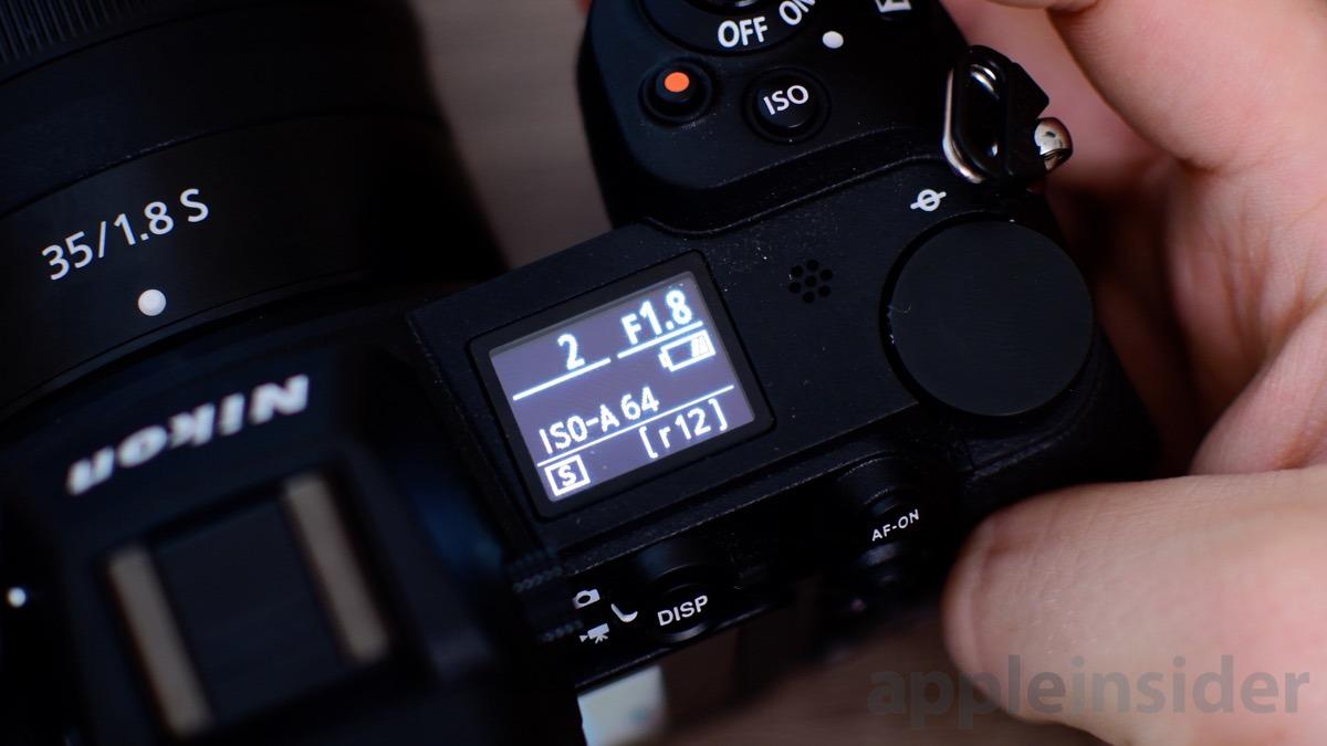 Nikon Z7 Mirrorless top screen