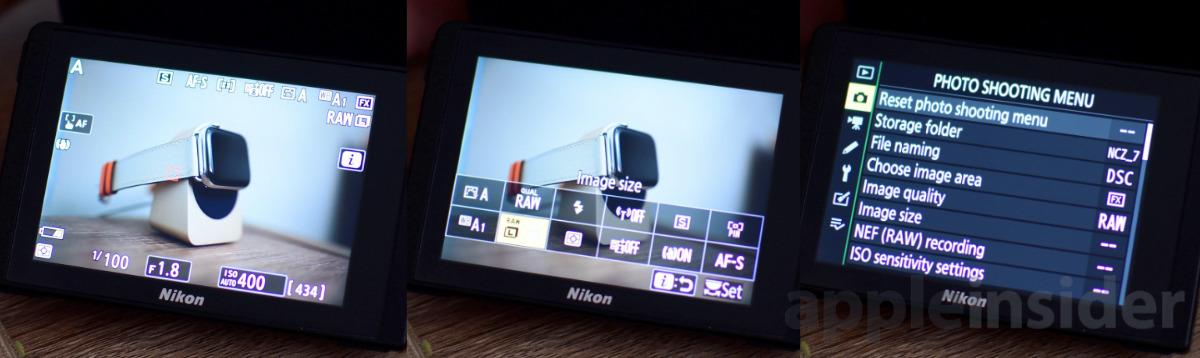 Nikon Z7 Mirrorless menus