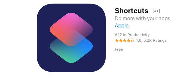 Apple's Siri Shortcuts app