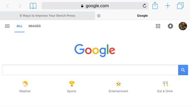 how to change safari search to google