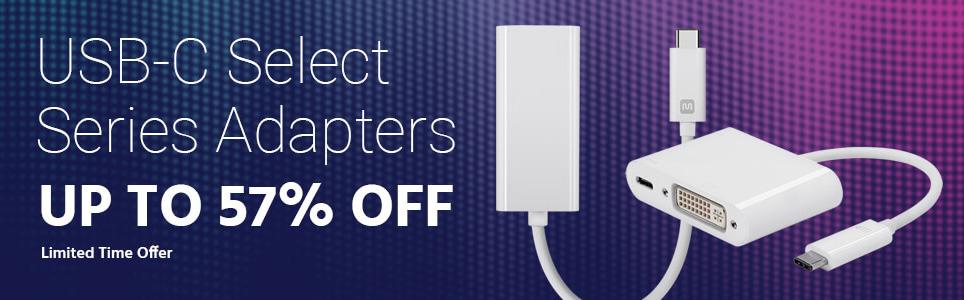 Monoprice USB Type C adapter discounts