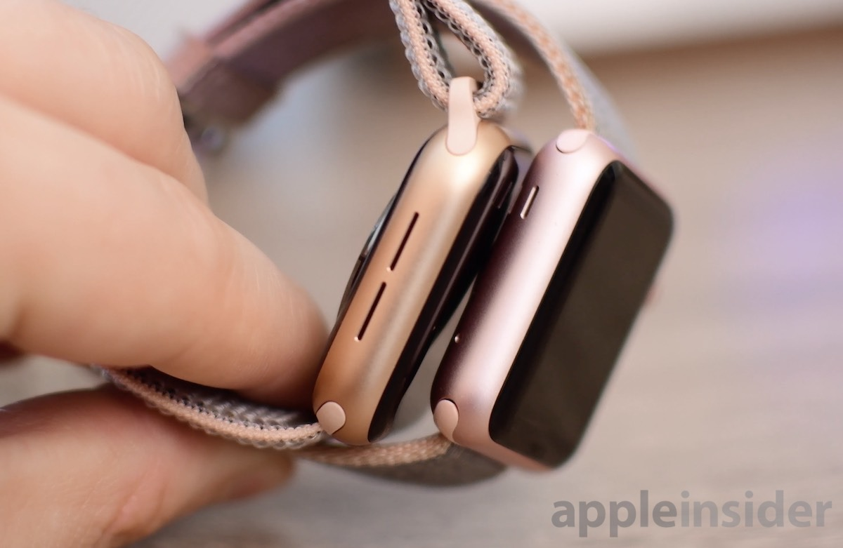Gold and Rose Gold Apple Watch