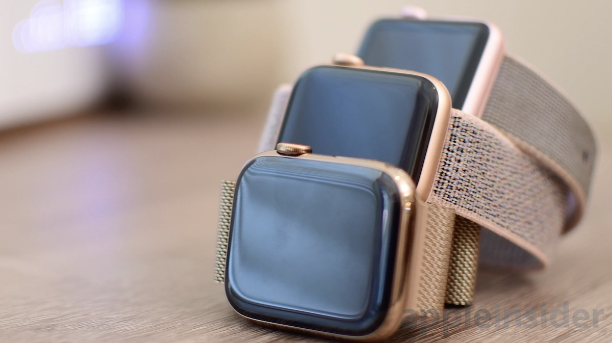 Comparing Apple S Gold Finishes On The Series 2 Versus Series 4 Apple Watch Appleinsider