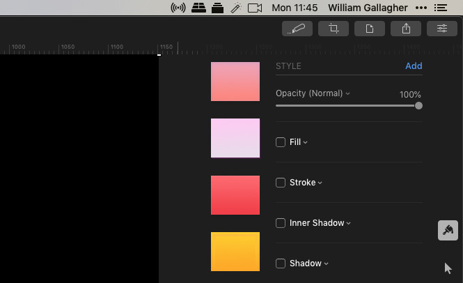 Changing the opacity of a layer in Pixelmator Pro