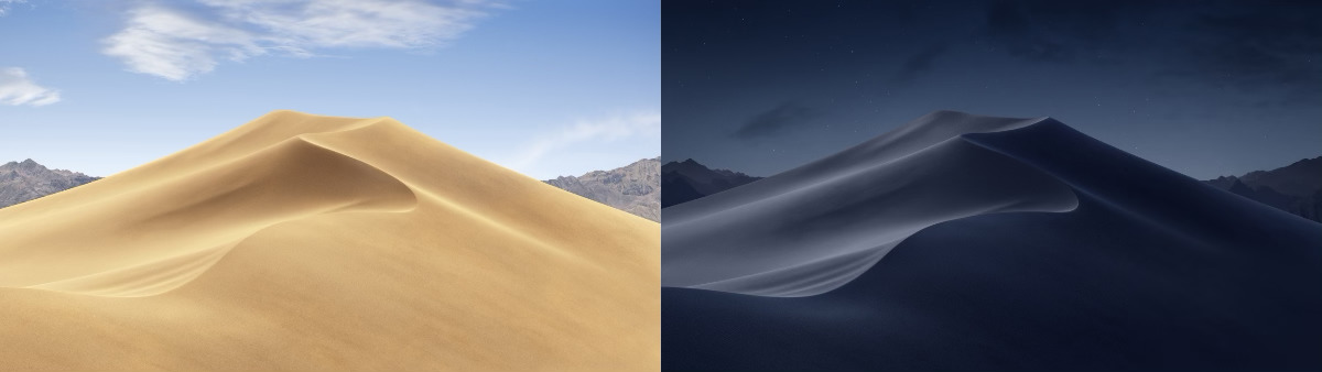 Mojave's Dynamic Desktop change both by time and location