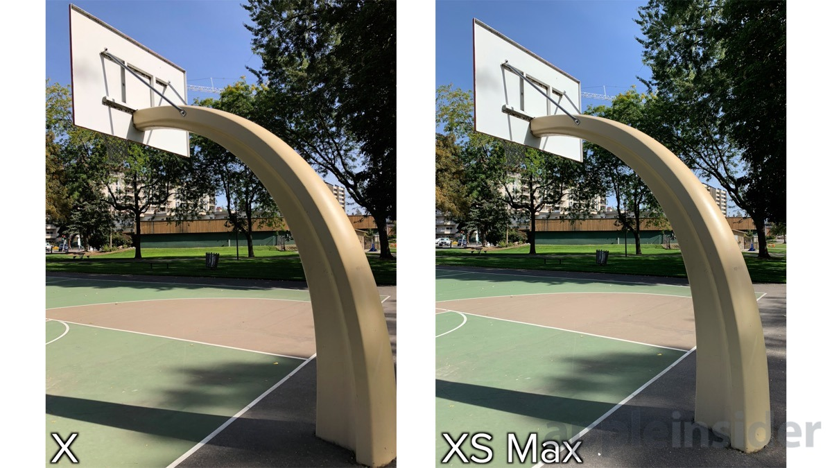 iPhone XS wide lens zoom comparison