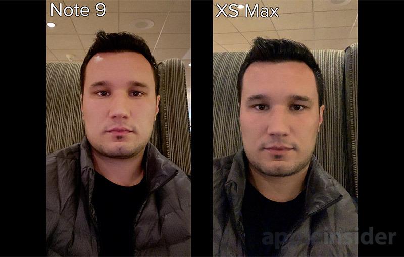 iPhone XS Selfie Low Light