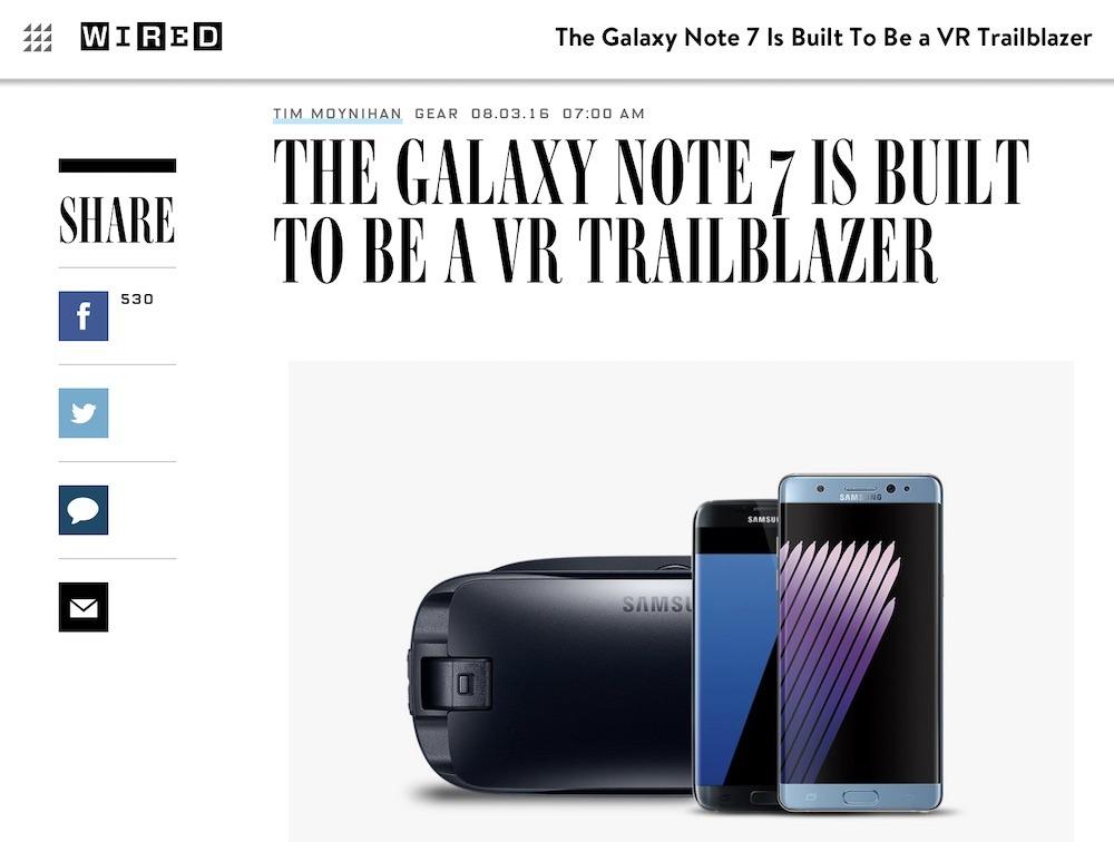 Samsung Note 7 VR