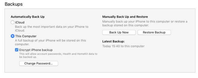Apple now blocks iOS app backups, but you can do something