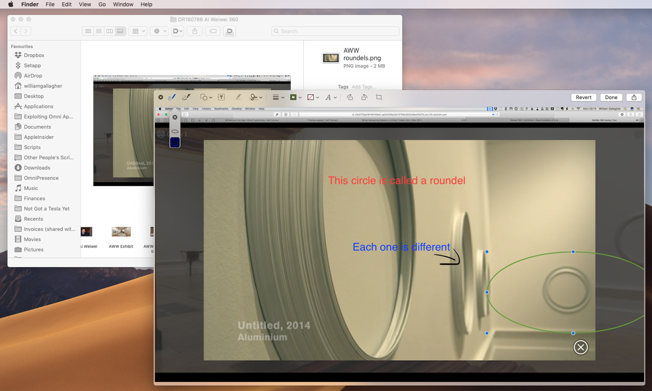Finder's new Markup Quick Action feature is superb