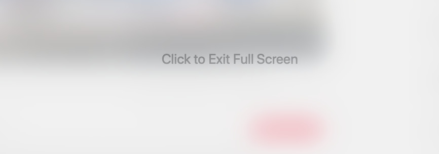 When Spaces goes wrong it shows you a message saying Click to Exit Full Screen