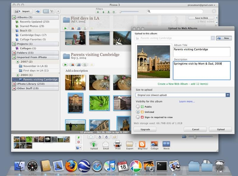Picasa running on an old Mac