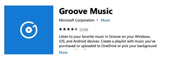 how to make a song loop on microsoft groove
