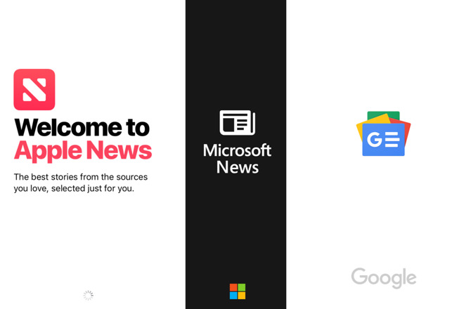 Compared: Apple News versus Google News and Microsoft News