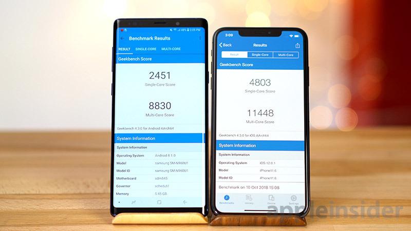 iPhone XS vs Galaxy Note 9 Geekbench 4