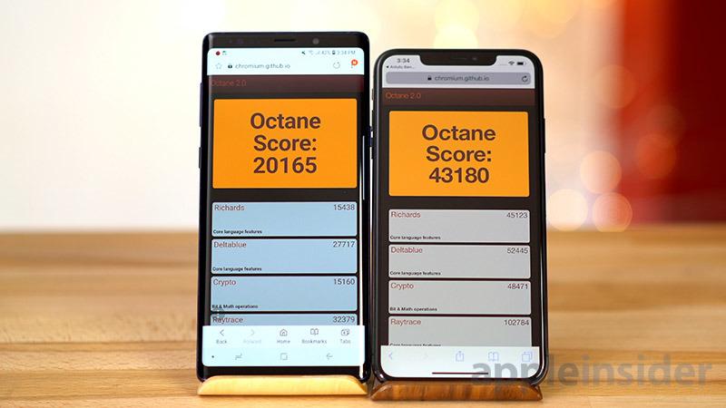 iPhone XS vs Galaxy Note 9 Octane