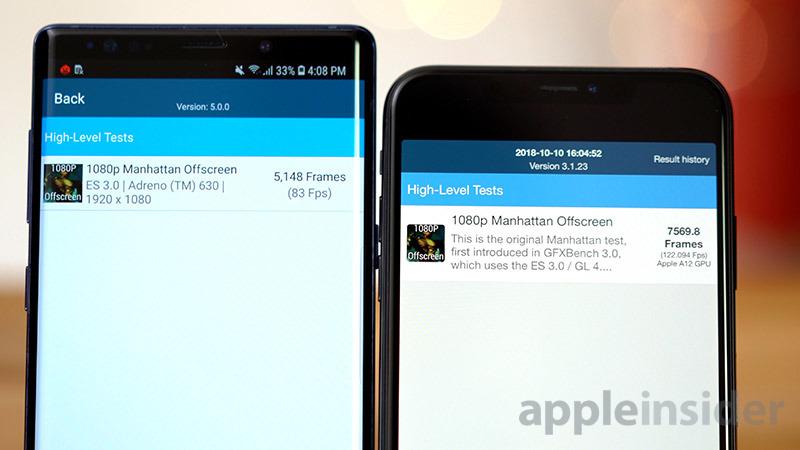 iPhone XS vs Galaxy Note 9 OpenGL
