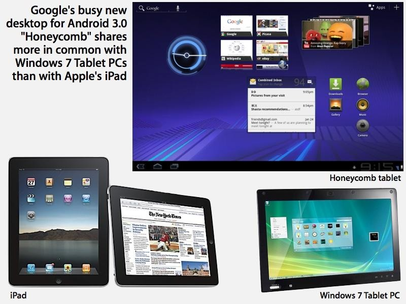 Android 3.0 Honeycomb tablets