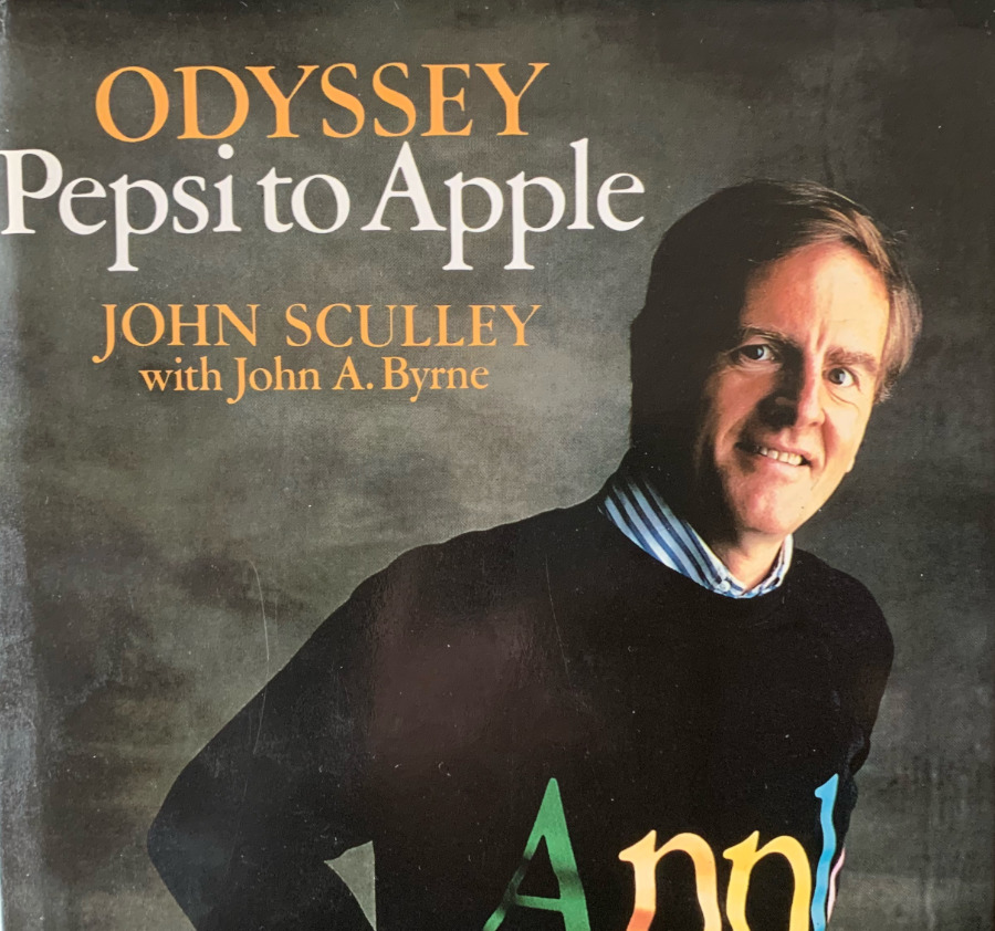 Detail from John Sculley's book cover