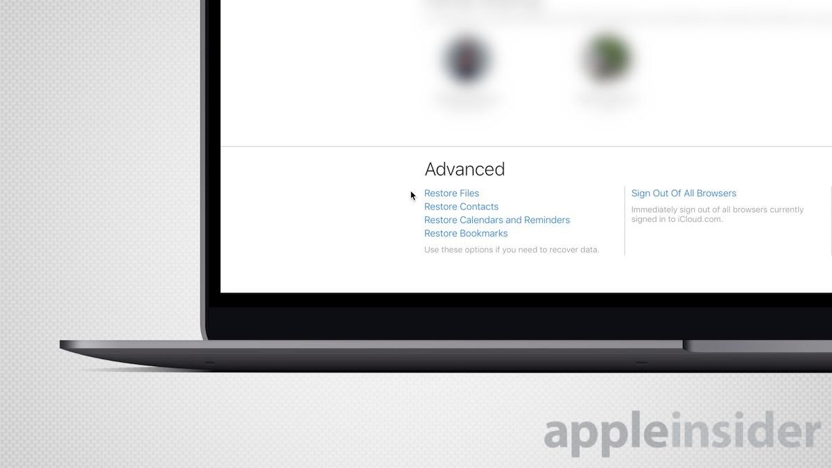 Restore iCloud Files