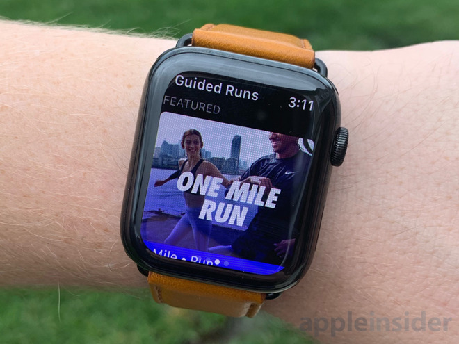 first look look for half off Nike updates Run Club app for bigger displays on Apple Watch ...