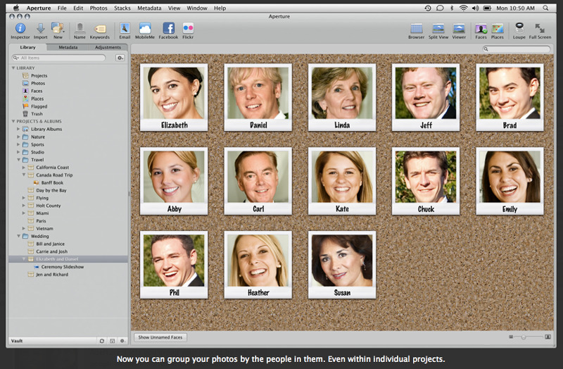 Aperture 3 introduced face recognition