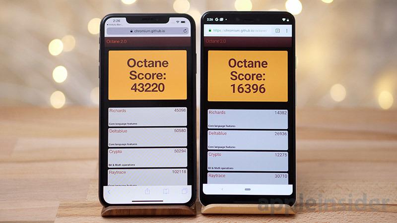 iPhone XS Max vs Pixel 3 Octane