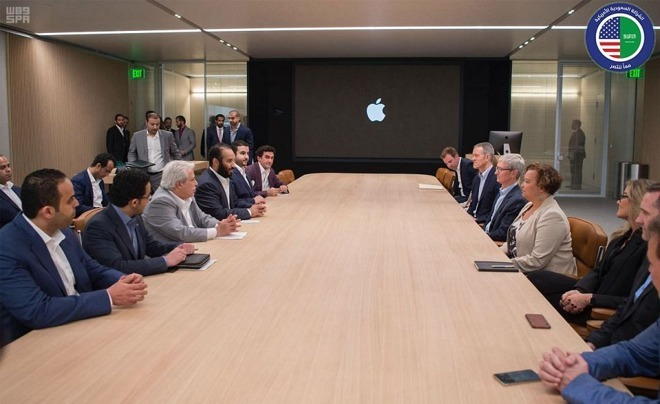 The Saudi delegation visits Apple Park