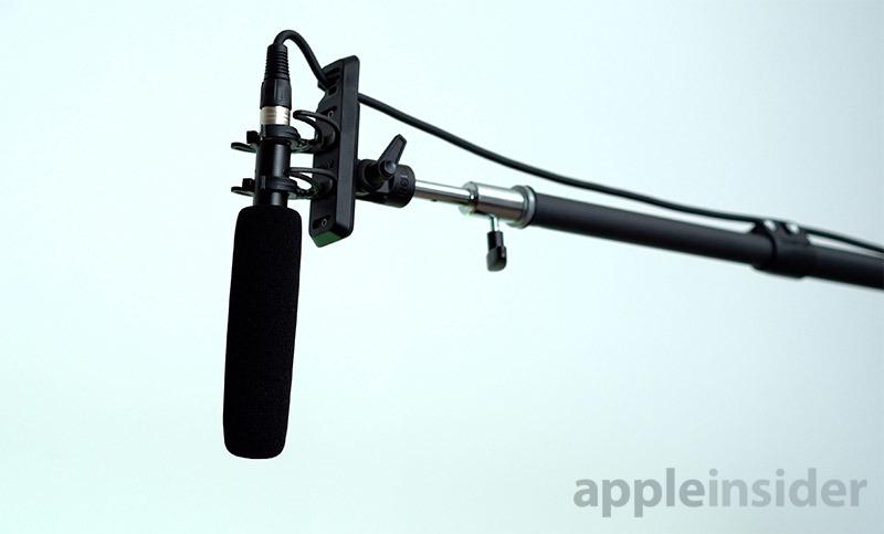 Boom microphone setup