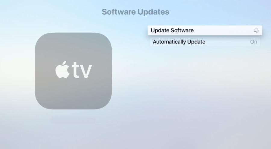 Updating Apple TV software