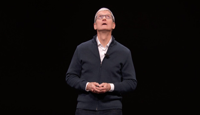 Tim Cook during the launch of the 2018 Mac mini