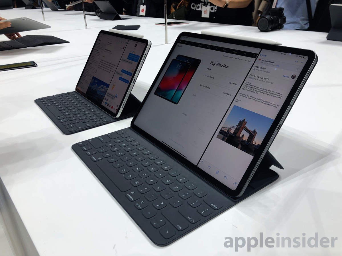 first look at apple 39 s new 2018 ipad pros apple pencil. Black Bedroom Furniture Sets. Home Design Ideas