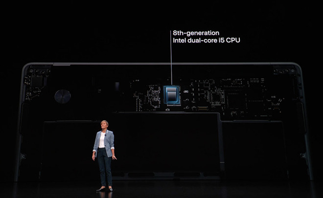 Apple VP of hardware engineering Laura Lagrove introduces MacBook Air.