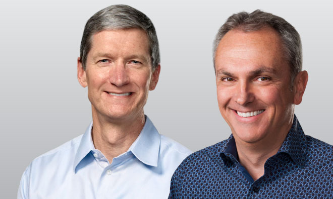 Apple CEO Tim Cook and CFO Luca Maestri