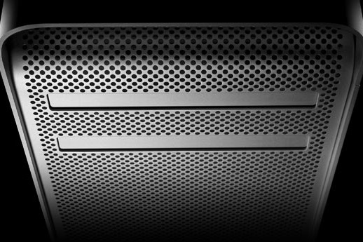 Detail of the old 'cheese grater' style Mac Pro