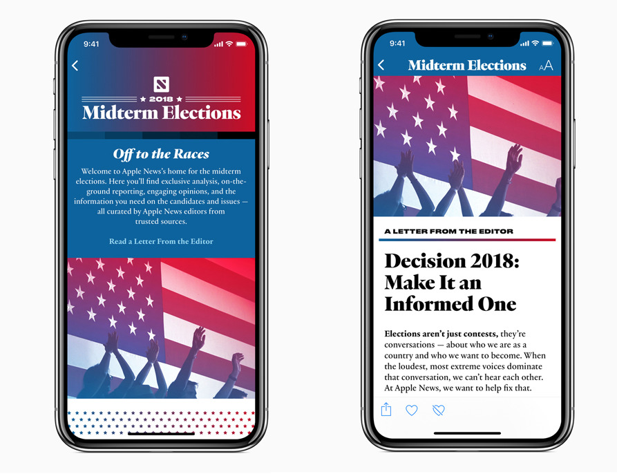 Apple News Midterms Section