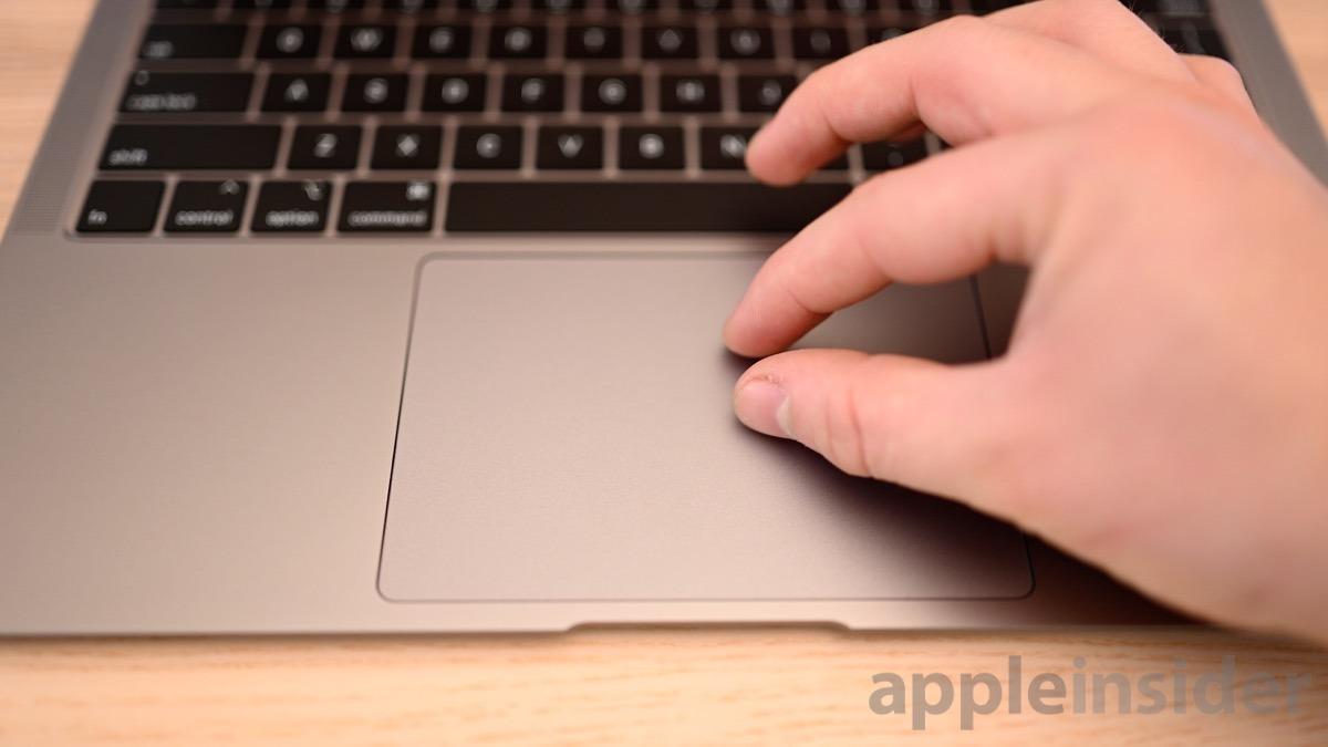 MacBook Air trackpad