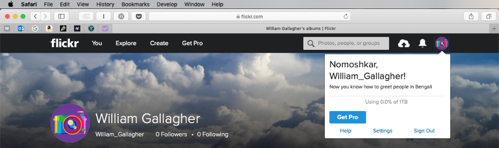 Where to Find your Account Settings on Flickr