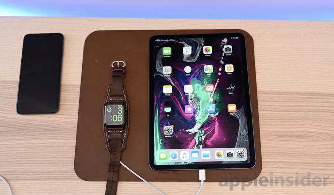 2018 iPad Pro charging Apple Watch